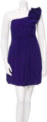 Robert Rodriguez Silk Ruffled Dress