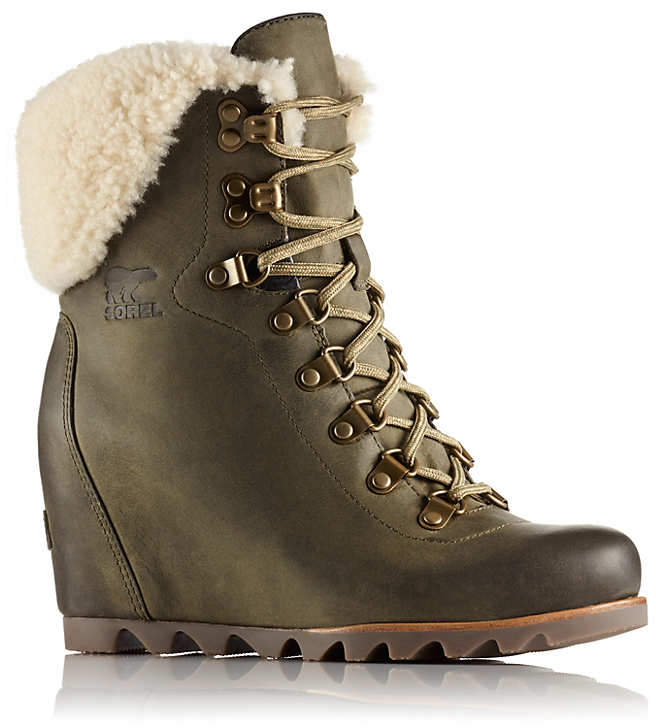 Women's ConquestTMÂ Wedge Shearling Boot
