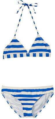 Ella Moss Girls' Striped Triangle Bikini