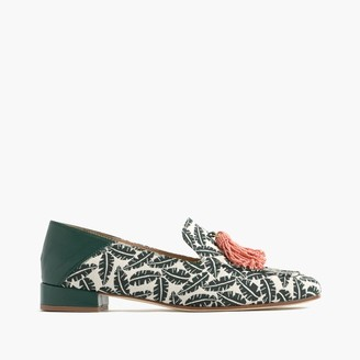 Palm-print tassel loafers $268 thestylecure.com
