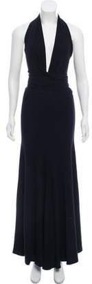 Donna Karan Halter Maxi Dress