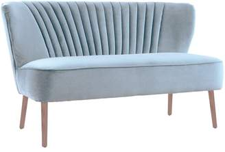 Blue Grey Coco 2 Seater Velvet Sofa