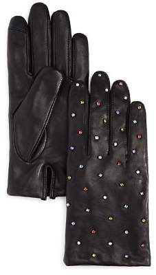 Echo Rani Embellished Leather Gloves