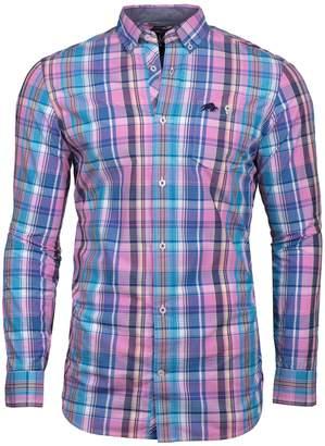 Men's Raging Bull Big And Tall Long Sleeve Madras Check Shirt