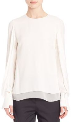 3.1 Phillip Lim Layered Draped Silk Blouse