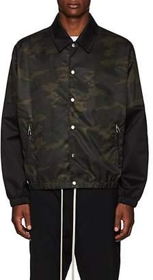 Helmut Lang Men's Camouflage Tech-Twill Coach's Jacket - Green