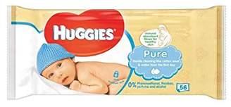 Huggies Pure Baby Wipes 56 per pack - Pack of 4