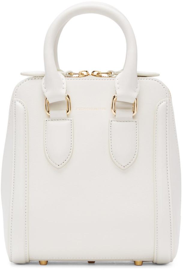 Alexander McQueenAlexander McQueen White Small Heroine Bag