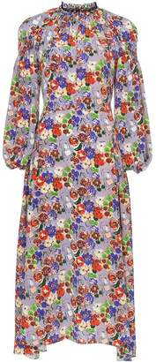 Prada silk floral print dress