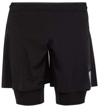 Satisfy Justice Trail Double Layer Running Shorts - Mens - Black