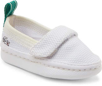 Lacoste Infant/Toddler Boys) White Lydro Knit Boat Shoes