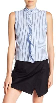 Frame Sleeveless Stripe Knit Tank Top