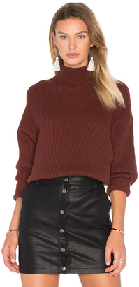 Autumn Cashmere Oversized Mock Neck Sweater $308 thestylecure.com