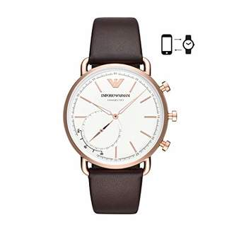Emporio Armani Men's 'Hybrid Smartwatch' Quartz Stainless Steel and Leather Dress Watch