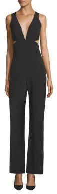 Laundry by Shelli Segal Plunging V-Neck Peek-a-Boo Jumpsuit $195 thestylecure.com