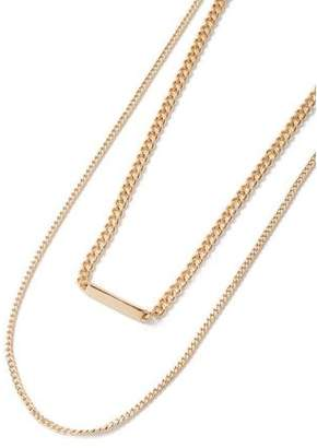 Topman Mens Gold Slick Chain Necklace*
