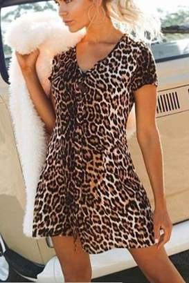 Reverse Aria Leopard Dress