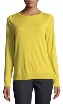 Lafayette 148 New York Matte Crepe Crewneck Sweater, Plus Size