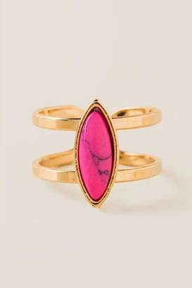 francesca's Fernanda Pink Marquis Ring - Neon Pink