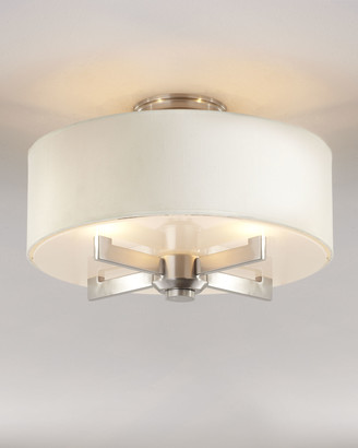 At horchow horchow silver satin semi flush ceiling fixture