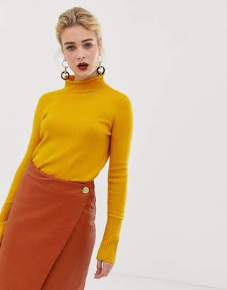 French Connection Rollneck ribbed knit sweater