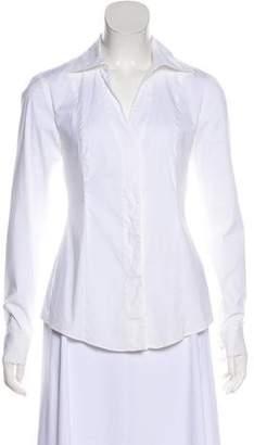 Donna Karan Long Sleeve Collar Top