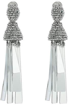 Oscar de la Renta Opaque Tassel C Earrings Earring
