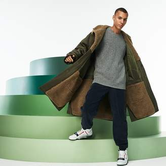 Lacoste Men's Fashion Show Reversible Gabardine And Technical Canvas Coat
