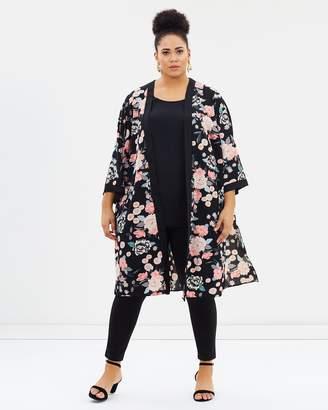 Evans Oriental Floral Kimono