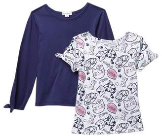 Flapdoodles Fundamentals Long Sleeve Tee - Pack of 2 (Toddler & Little Girls)