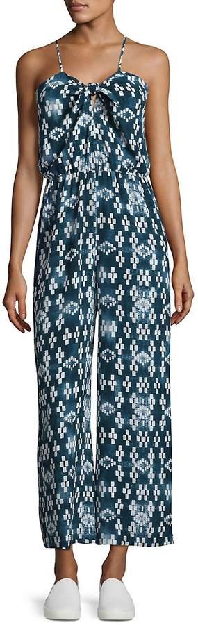 LAVI Women's Front Tie Jumpsuit - Mali Stripe, Size x-small