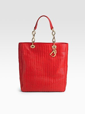 Dior Soft Woven Medium Shopping Tote