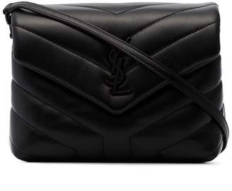 Saint Laurent Black Toy Loulou quilted cross body bag