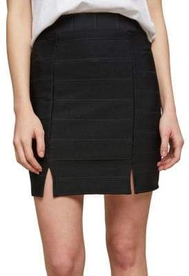Miss Selfridge Double Split Bandage Mini Skirt