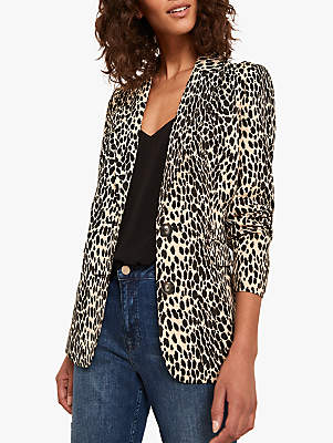 Mint Velvet Animal Blazer, Multi