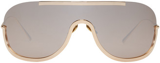 Acne Studios Gold Mask Junior Sunglasses $430 thestylecure.com