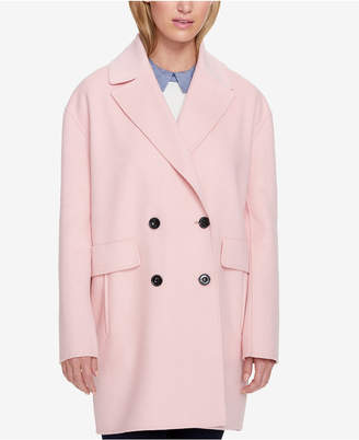 Tommy Hilfiger Double-Breasted Coat, Created for Macy's