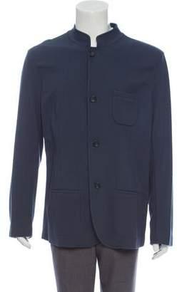 Giorgio Armani Textured Knit Button Down Jacket