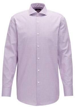 BOSS Hugo Checked Cotton Dress Shirt, Sharp Fit Mark US 14.5/R Dark pink