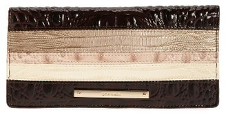Women's Brahmin Ady Embossed Leather Wallet - Beige $125 thestylecure.com