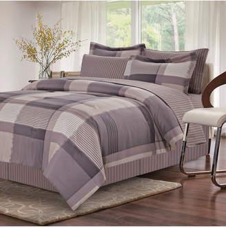 Brown & Grey Harmony Grey 8-Piece Bed-In-Bag, Queen Bedding