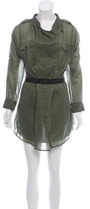 Etoile Isabel Marant Belted Long Sleeve Shirtdress