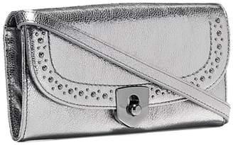 Cole Haan Marli Studded Metallic Leather Convertible Smartphone Clutch