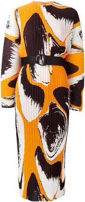 Solace printed plissé dress