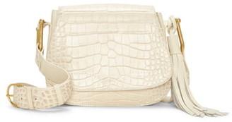 Vince Camuto Tal Croc Embossed Leather Shoulder Bag