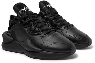 Y-3 Y 3 Kaiwa Suede-Trimmed Leather And Neoprene Sneakers