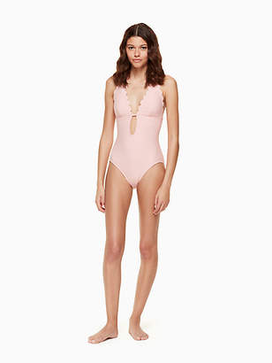 Kate Spade Marina piccola halter plunge one-piece swimsuit