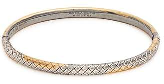 Bottega Veneta Dichotomy Intrecciato Engraved Bracelet - Womens - Gold