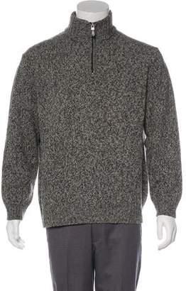 Blumarine Marled Wool Half-Zip Sweater