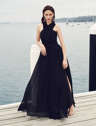 Forever New Nova Cross Front Maxi Dress - Black - 4
